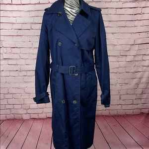 GAP Blue Trench Coat Size Large Tall